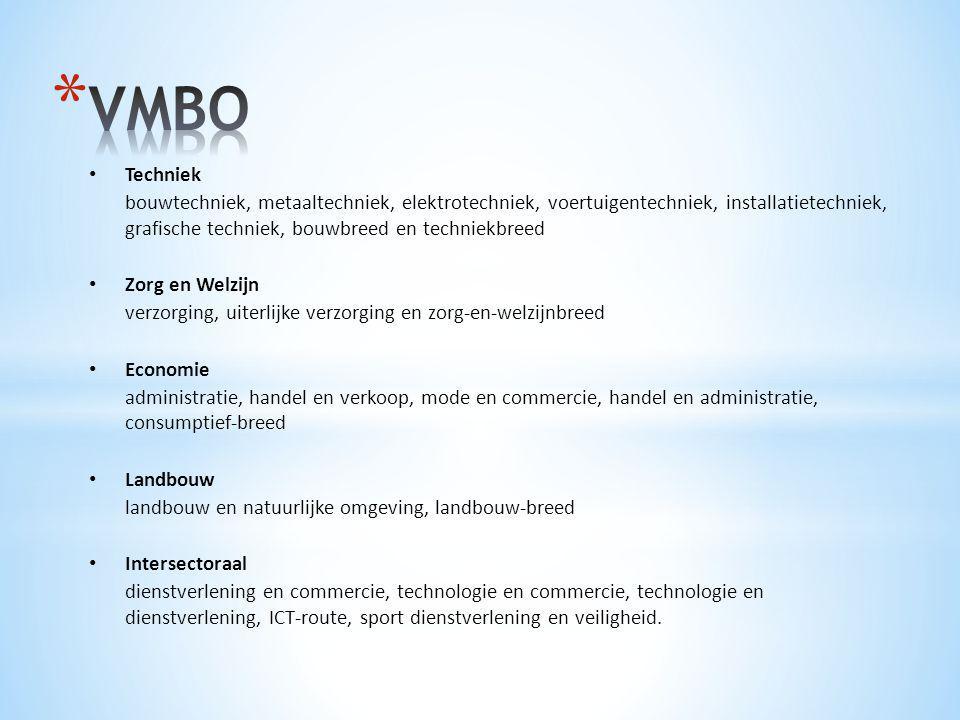 VMBO Techniek.