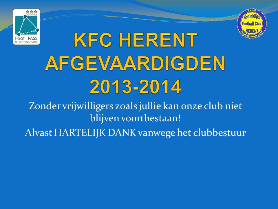 KFC HERENT AFGEVAARDIGDEN 2013-2014