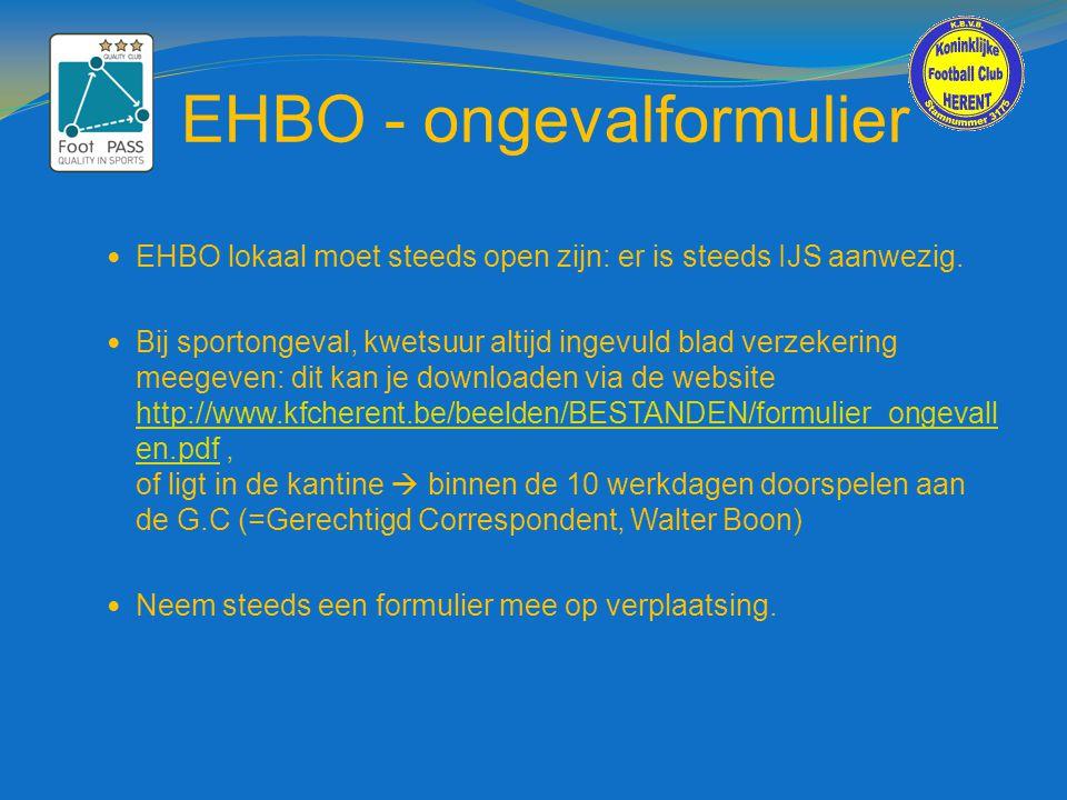 EHBO - ongevalformulier