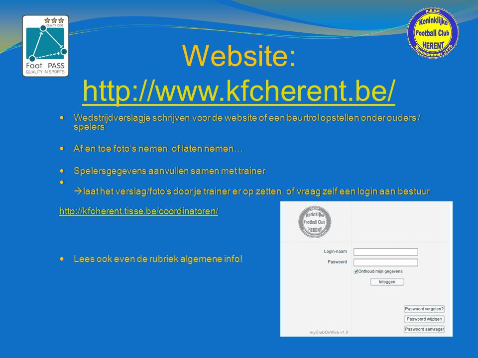 Website: http://www.kfcherent.be/