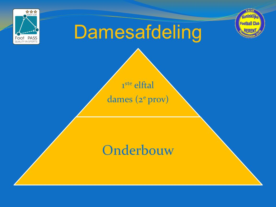 Damesafdeling 1ste elftal dames (2e prov) Onderbouw