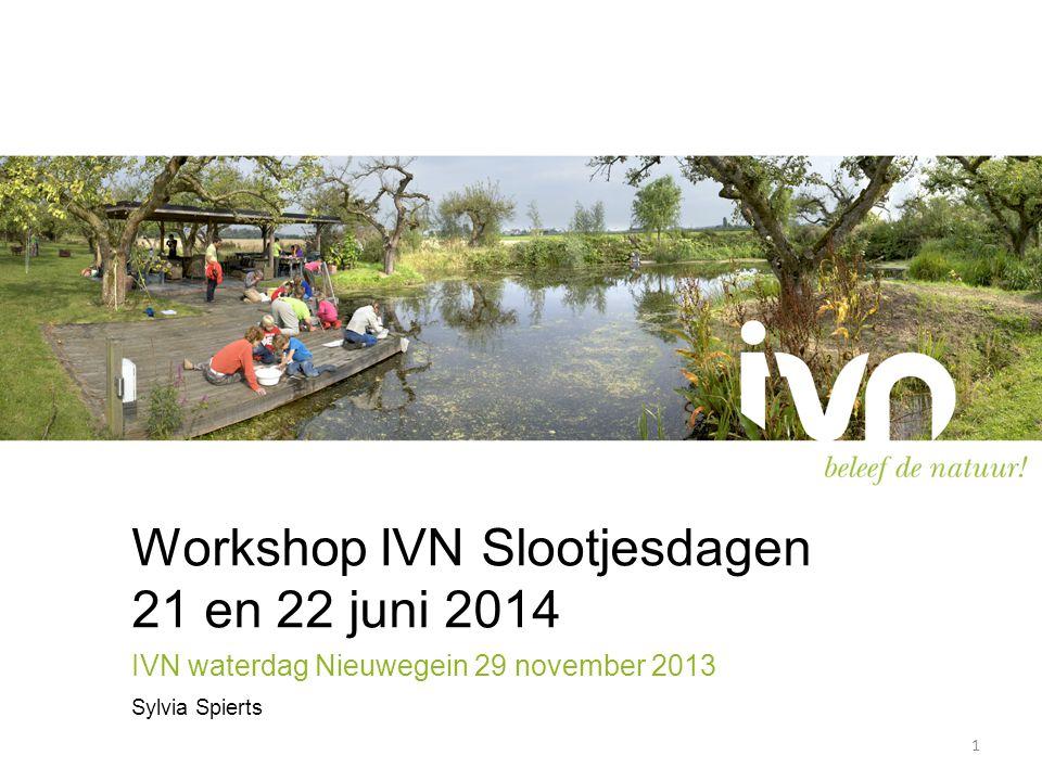 Workshop IVN Slootjesdagen 21 en 22 juni 2014