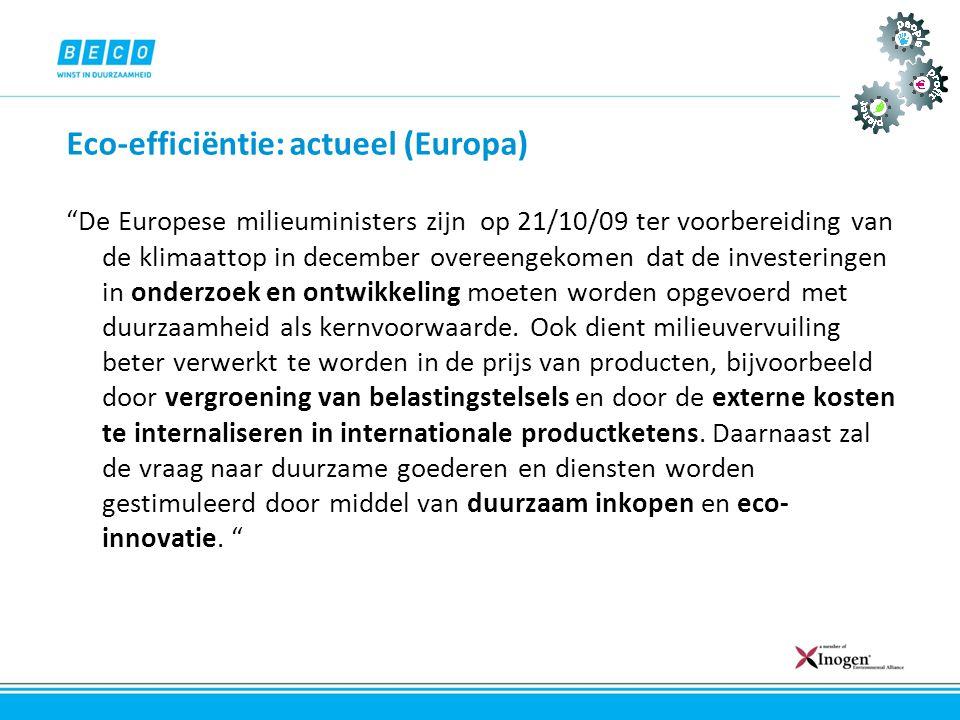 Eco-efficiëntie: actueel (Europa)