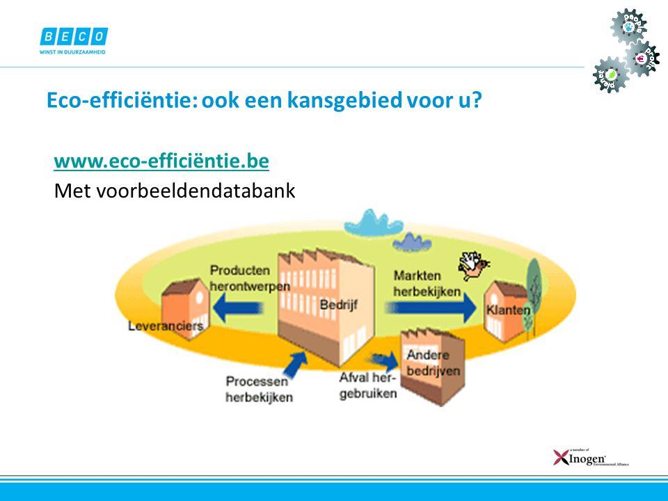 Eco-efficiëntie: ook een kansgebied voor u