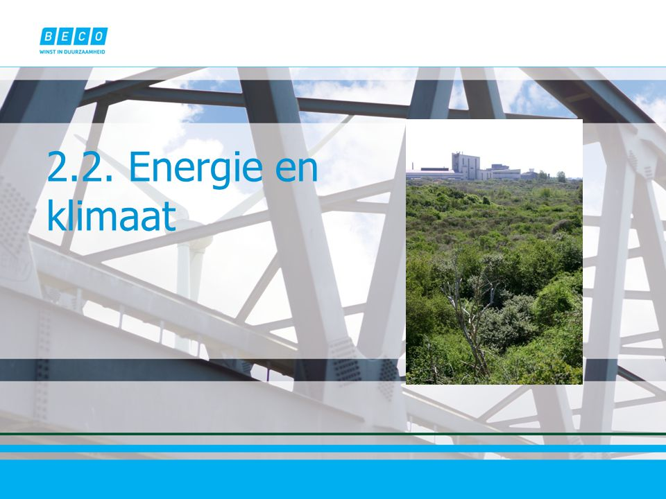 2.2. Energie en klimaat