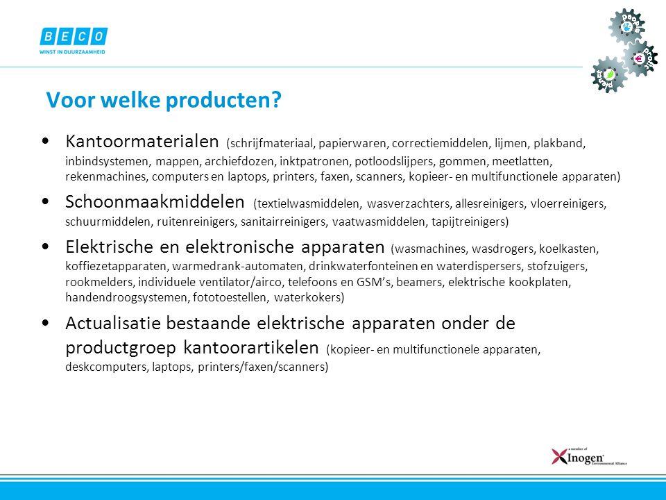 Voor welke producten
