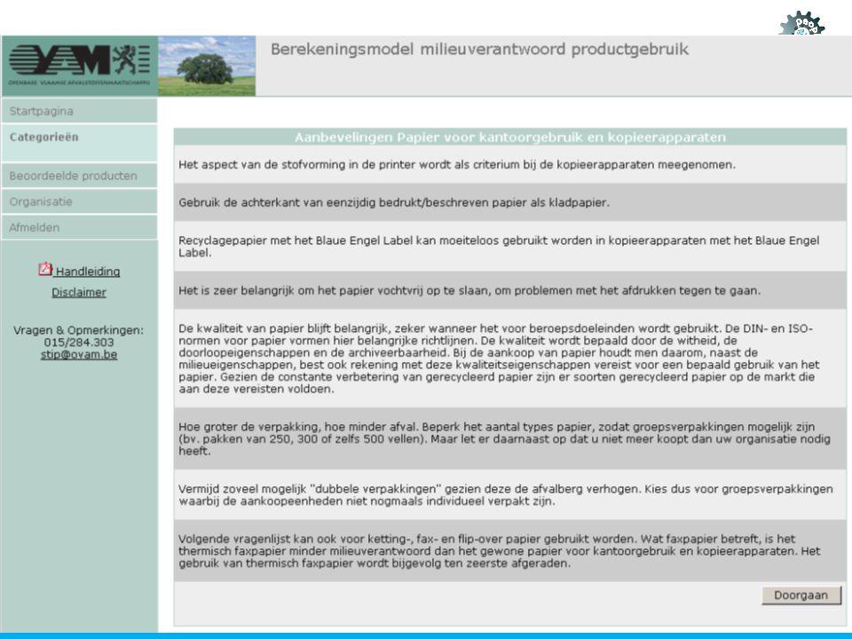 Voorbeeld papier: aanbevelingen