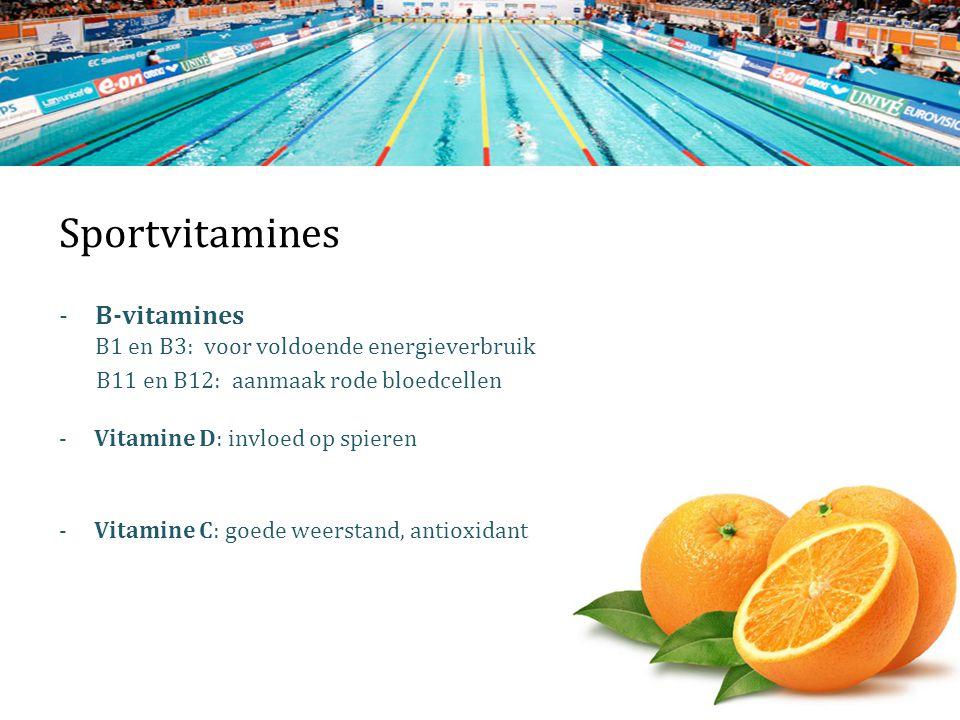 Sportvitamines B-vitamines B1 en B3: voor voldoende energieverbruik