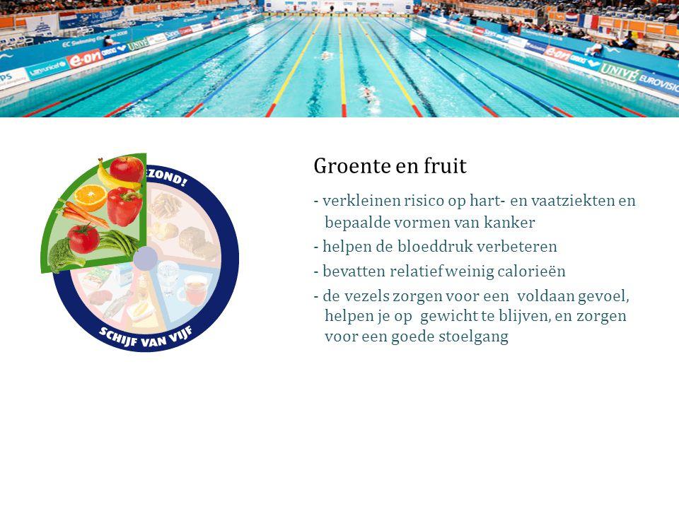 Groente en fruit - verkleinen risico op hart- en vaatziekten en bepaalde vormen van kanker.