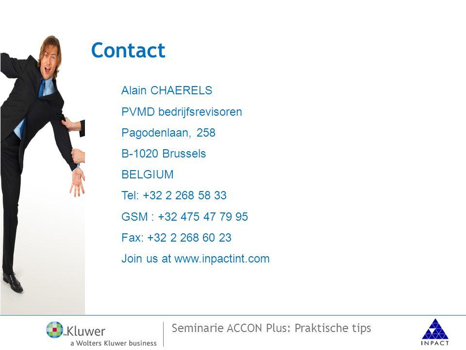 Contact Alain CHAERELS PVMD bedrijfsrevisoren Pagodenlaan, 258