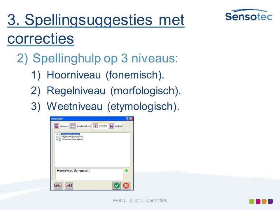 3. Spellingsuggesties met correcties