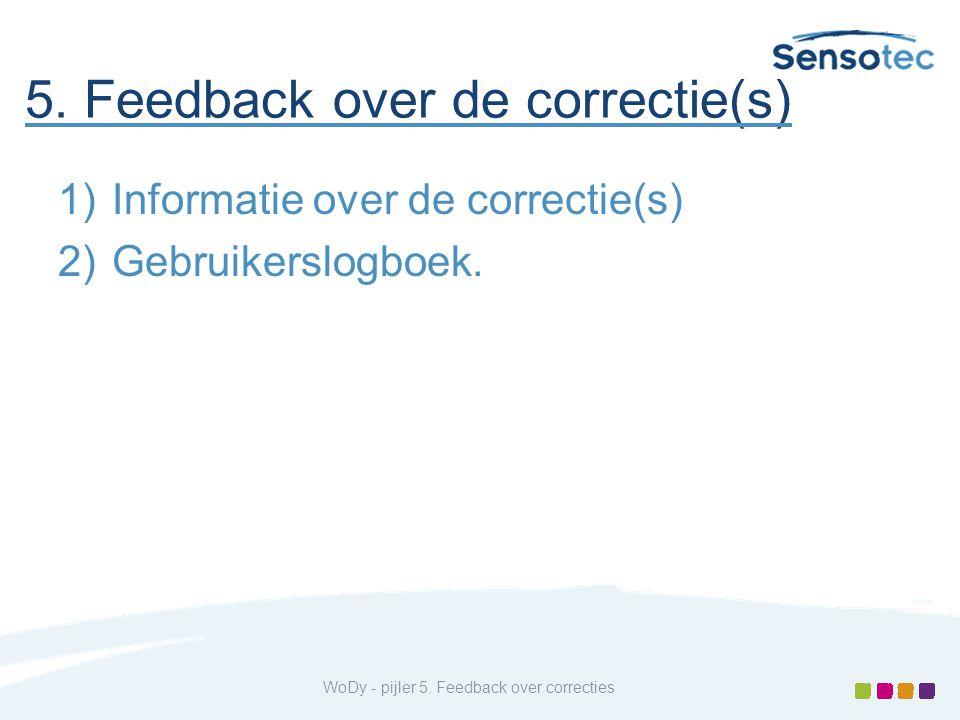 5. Feedback over de correctie(s)