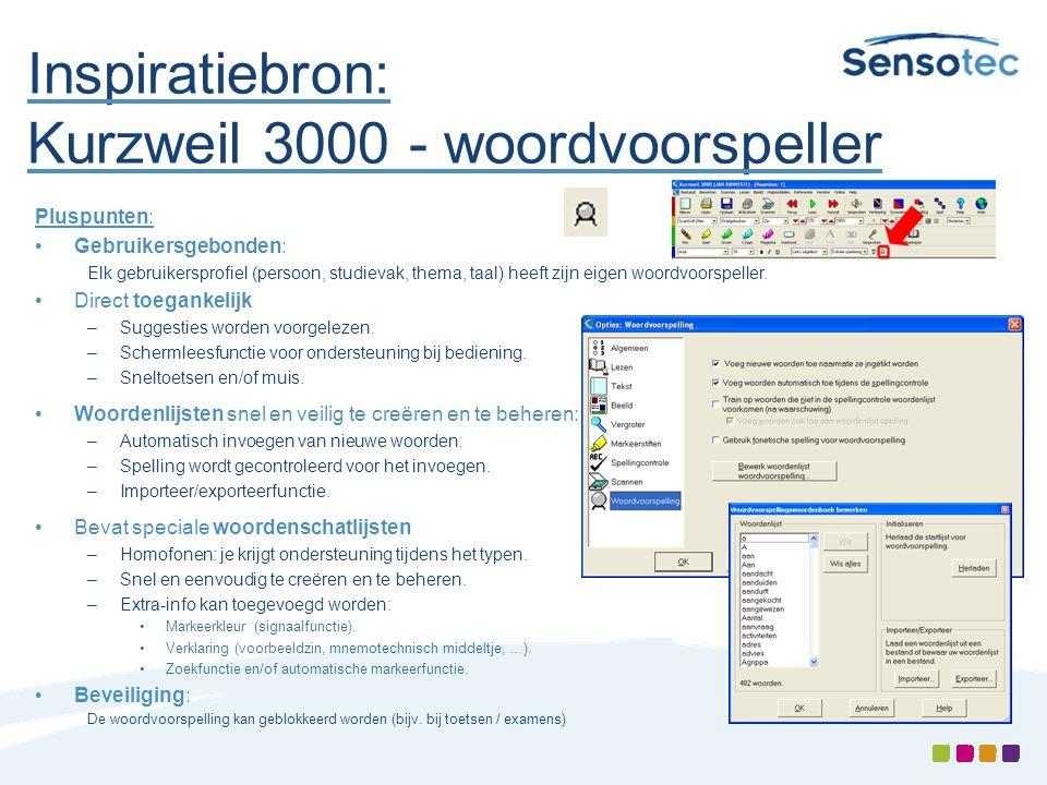 Inspiratiebron: Kurzweil 3000 - woordvoorspeller