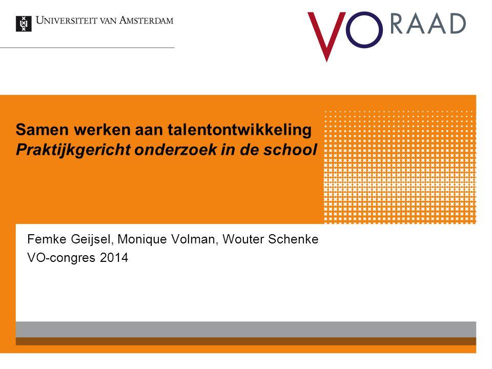 Femke Geijsel, Monique Volman, Wouter Schenke VO-congres 2014