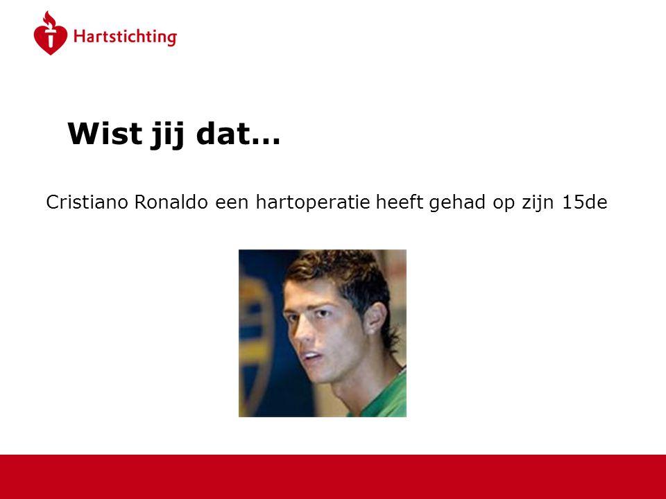 Wist jij dat… Cristiano Ronaldo een hartoperatie heeft gehad op zijn 15de.