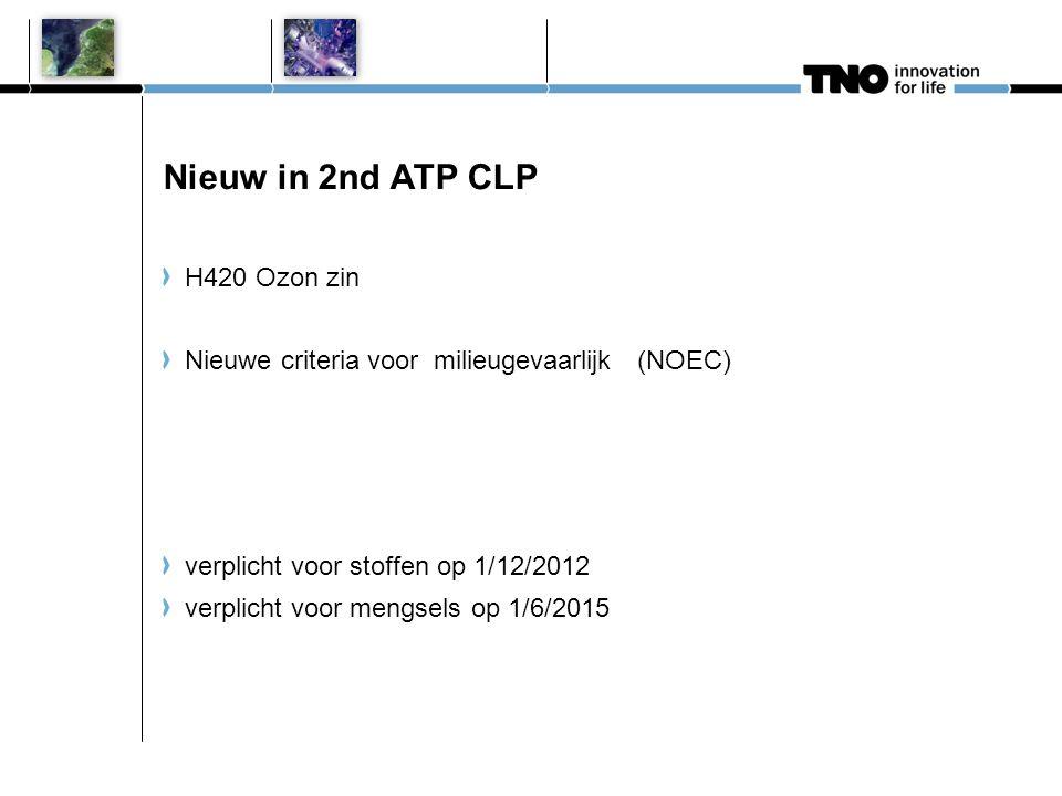 Nieuw in 2nd ATP CLP H420 Ozon zin