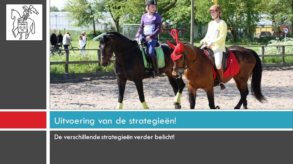Uitvoering van de strategieën!