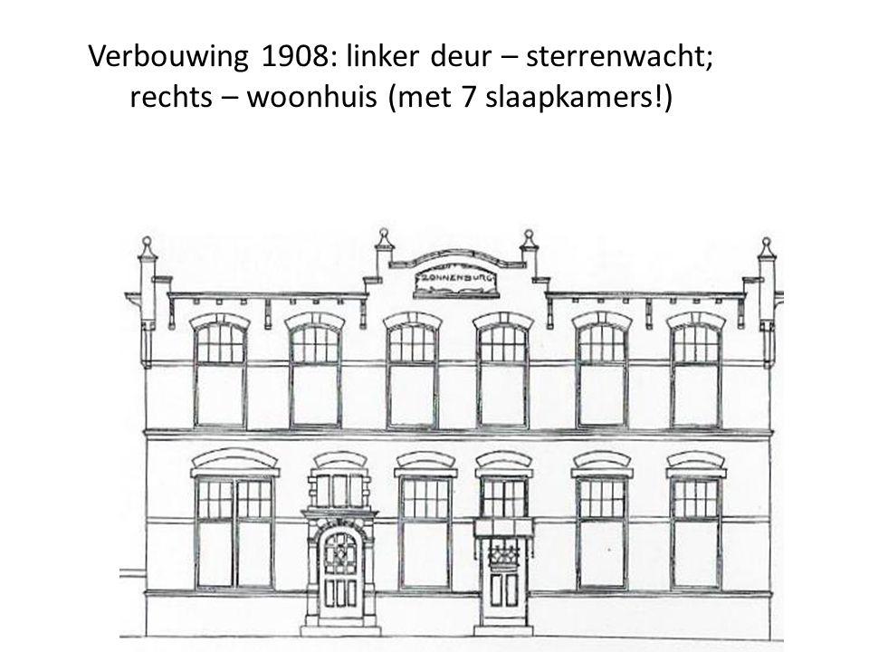 Verbouwing 1908: linker deur – sterrenwacht; rechts – woonhuis (met 7 slaapkamers!)