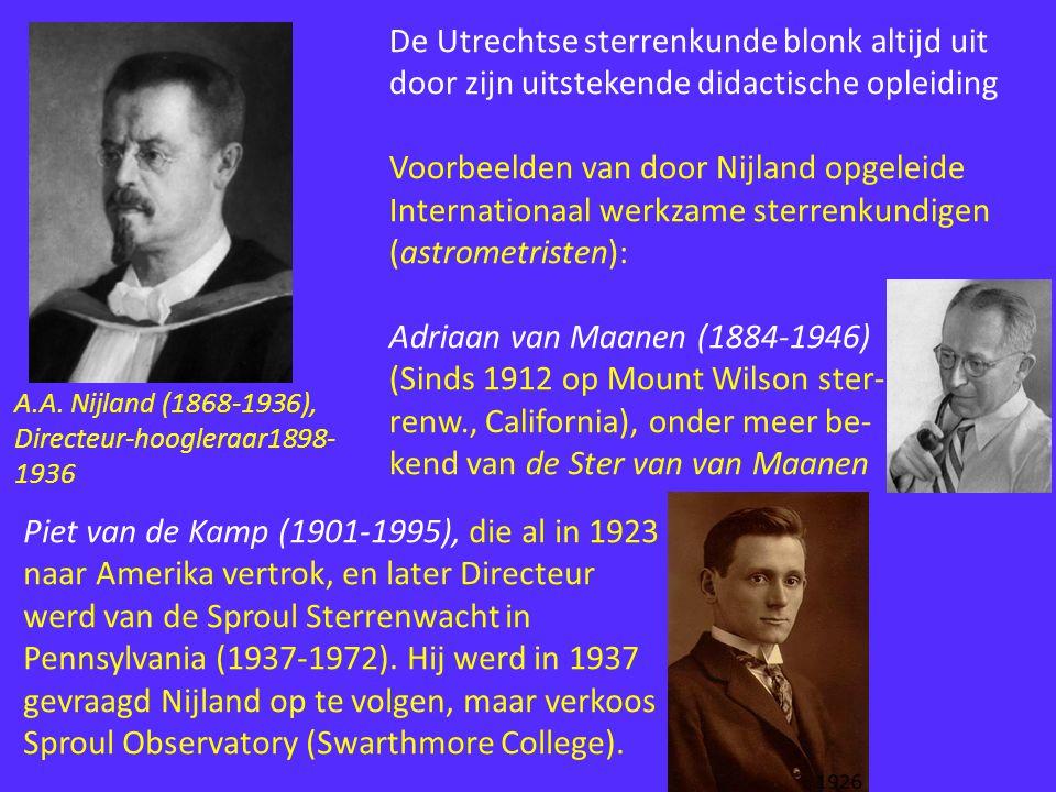 De Utrechtse sterrenkunde blonk altijd uit