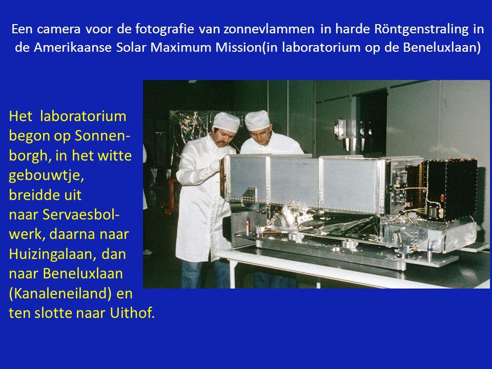 Het laboratorium begon op Sonnen- borgh, in het witte gebouwtje,