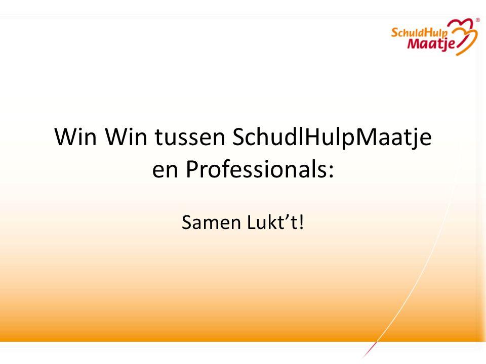 Win Win tussen SchudlHulpMaatje en Professionals: