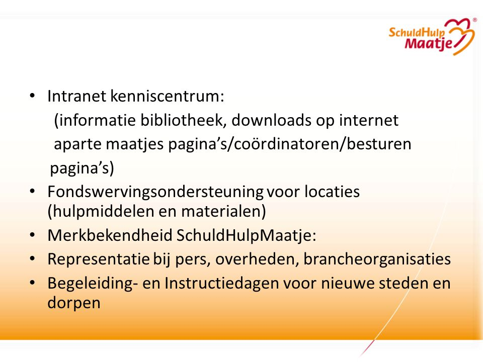 Intranet kenniscentrum: