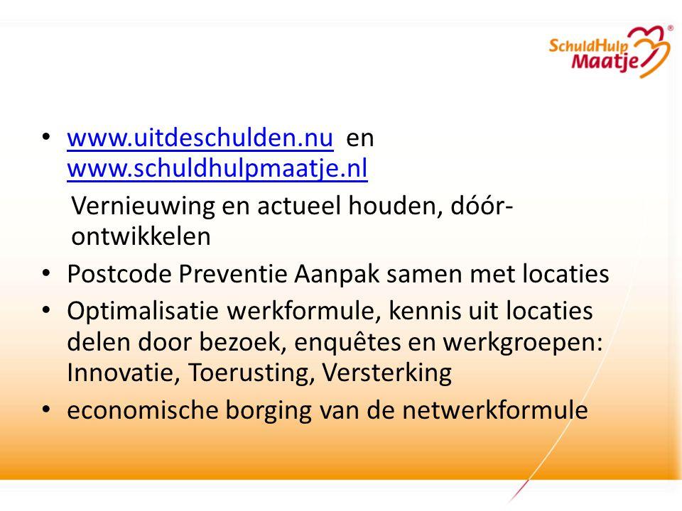 www.uitdeschulden.nu en www.schuldhulpmaatje.nl