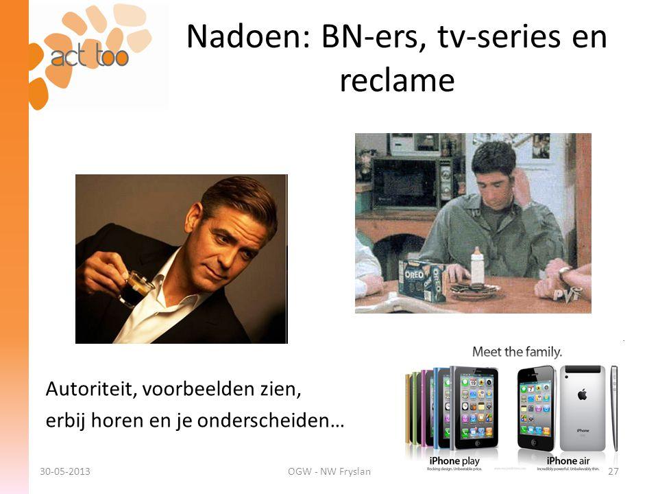 Nadoen: BN-ers, tv-series en reclame
