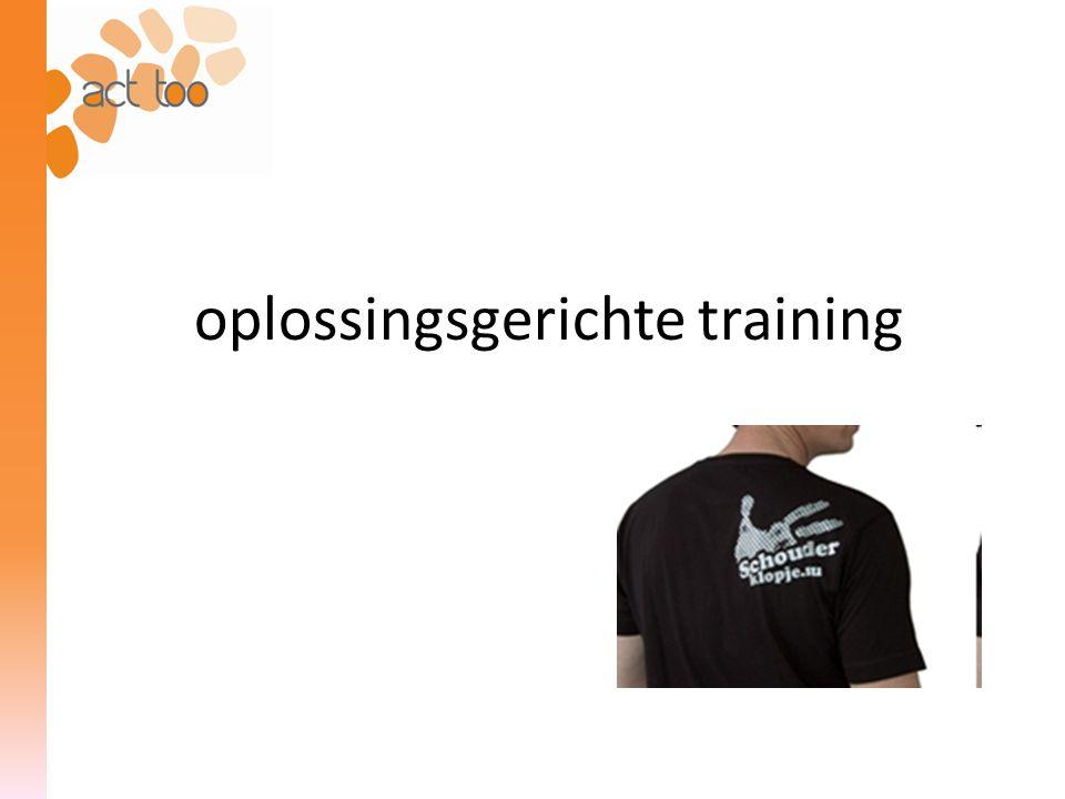 oplossingsgerichte training