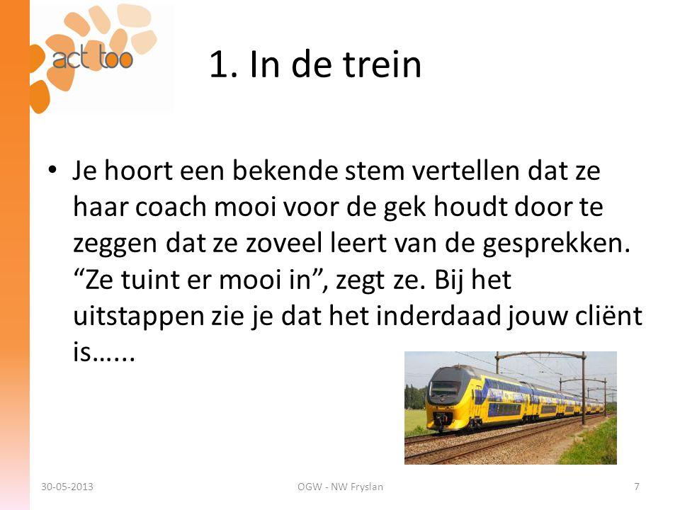 1. In de trein