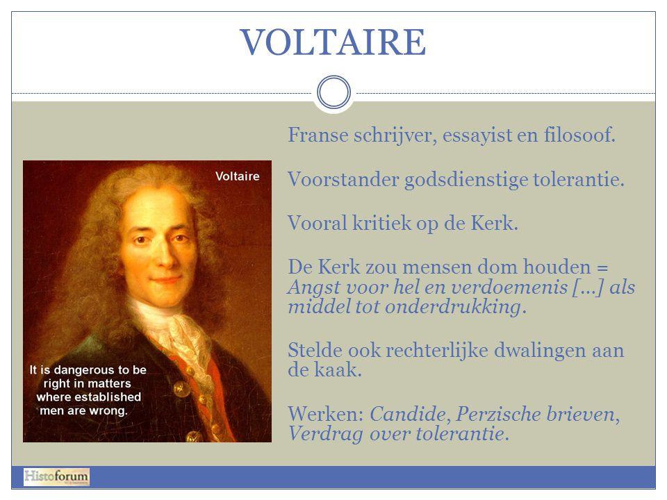 VOLTAIRE Franse schrijver, essayist en filosoof.