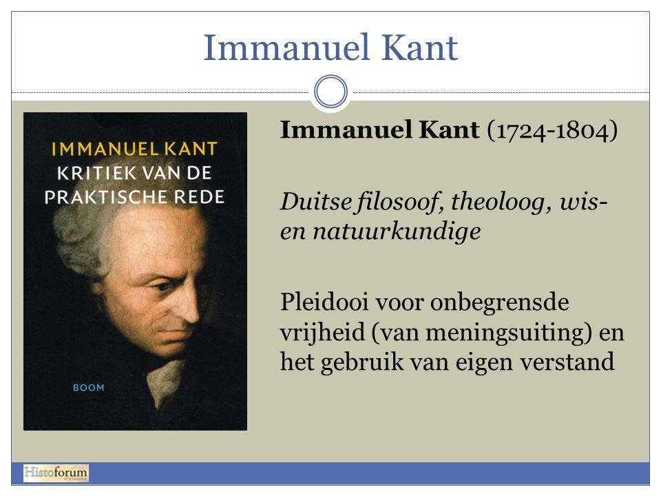 Immanuel Kant Immanuel Kant (1724-1804)