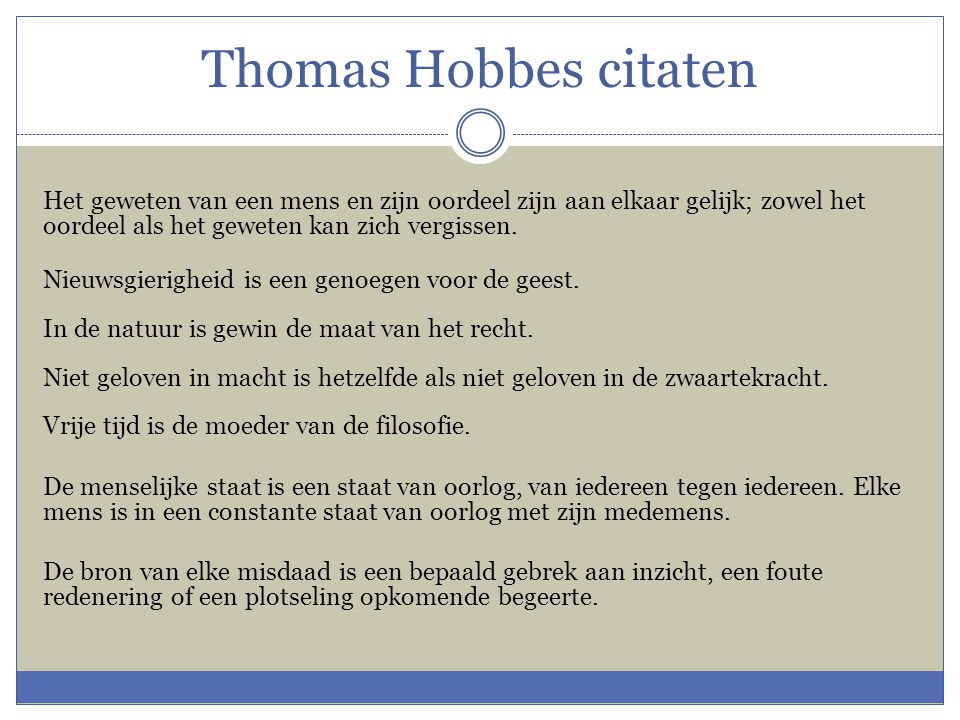 Thomas Hobbes citaten