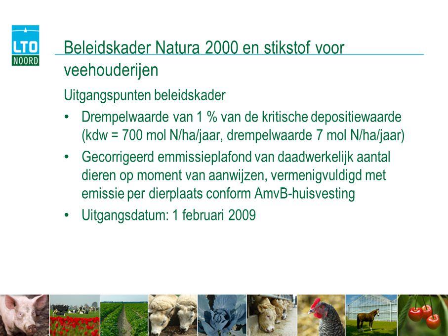 Beleidskader Natura 2000 en stikstof voor veehouderijen