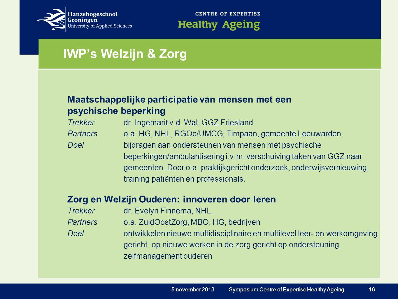 IWP's Welzijn & Zorg