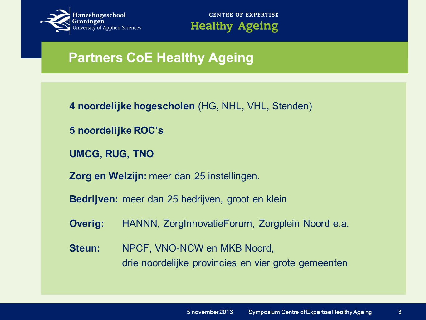 Partners CoE Healthy Ageing