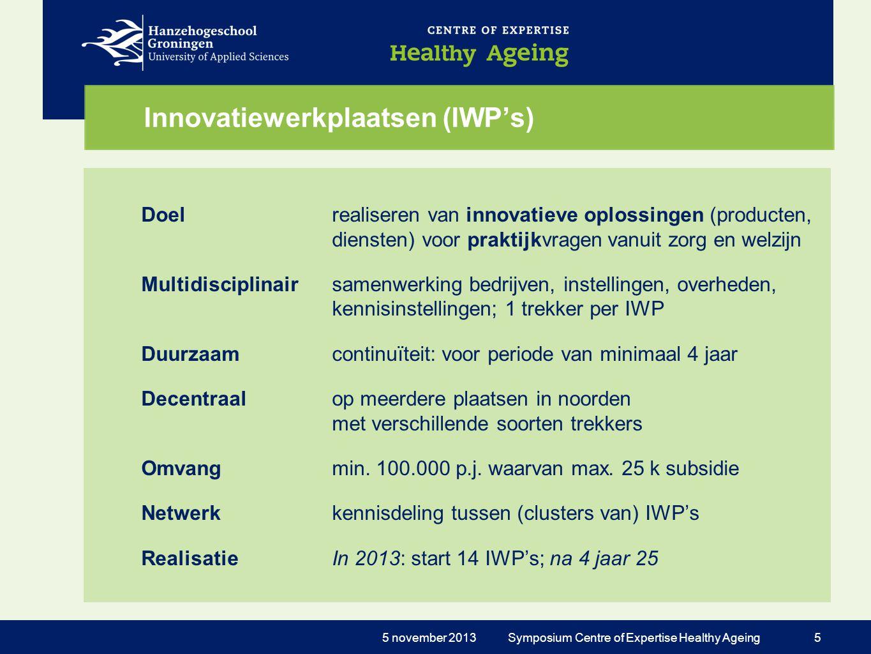 Innovatiewerkplaatsen (IWP's)