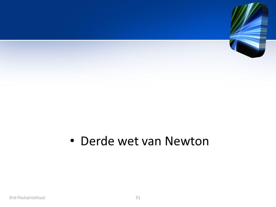 Derde wet van Newton Title Sint-Paulusinstituut