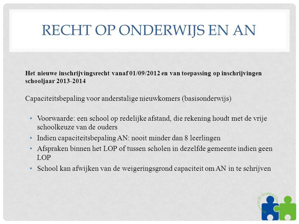 Recht op onderwijs en AN