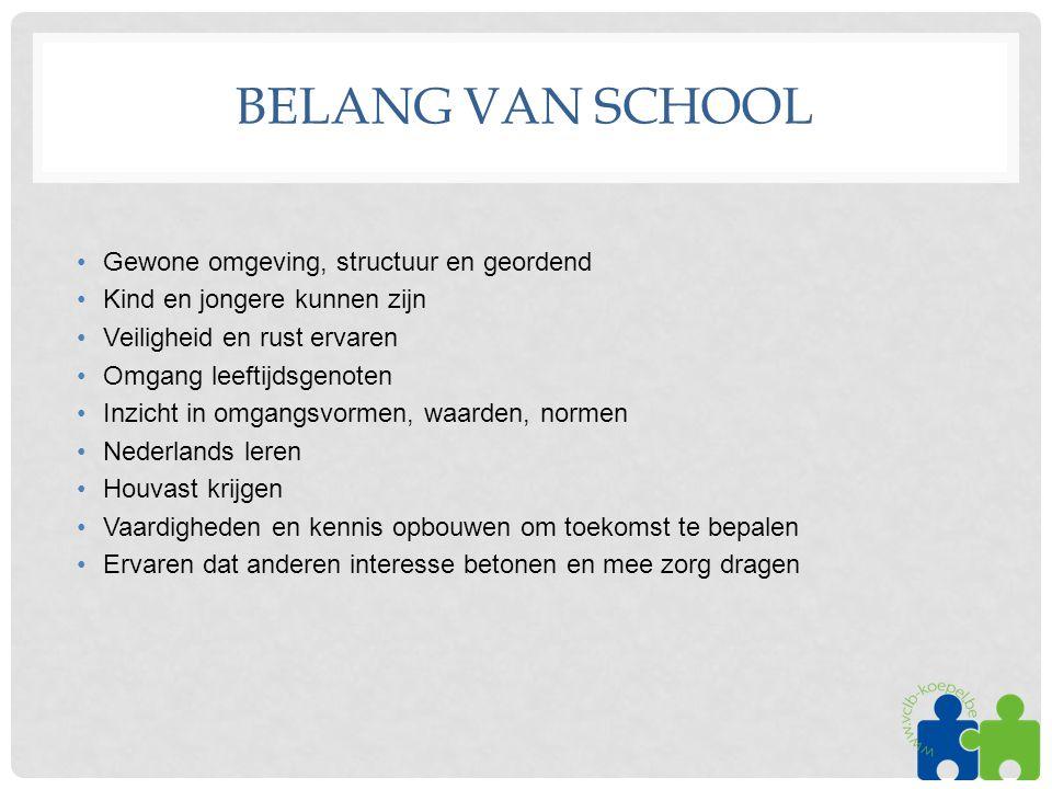 Belang van school Gewone omgeving, structuur en geordend