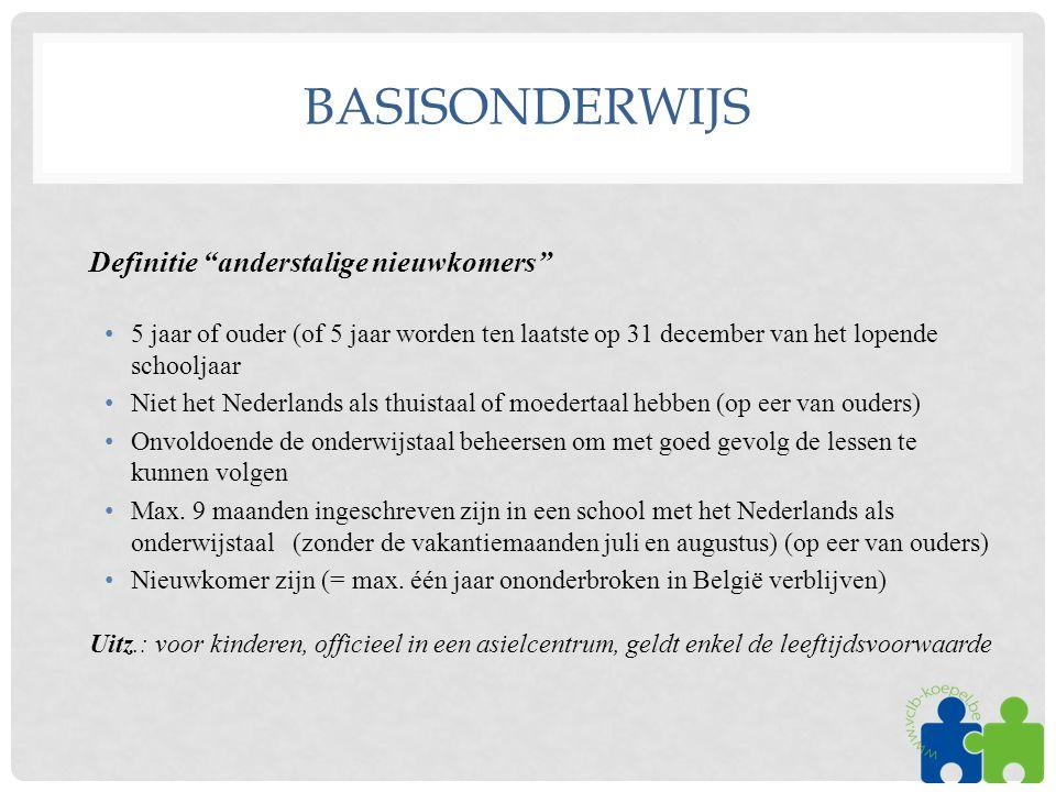 basisonderwijs Definitie anderstalige nieuwkomers
