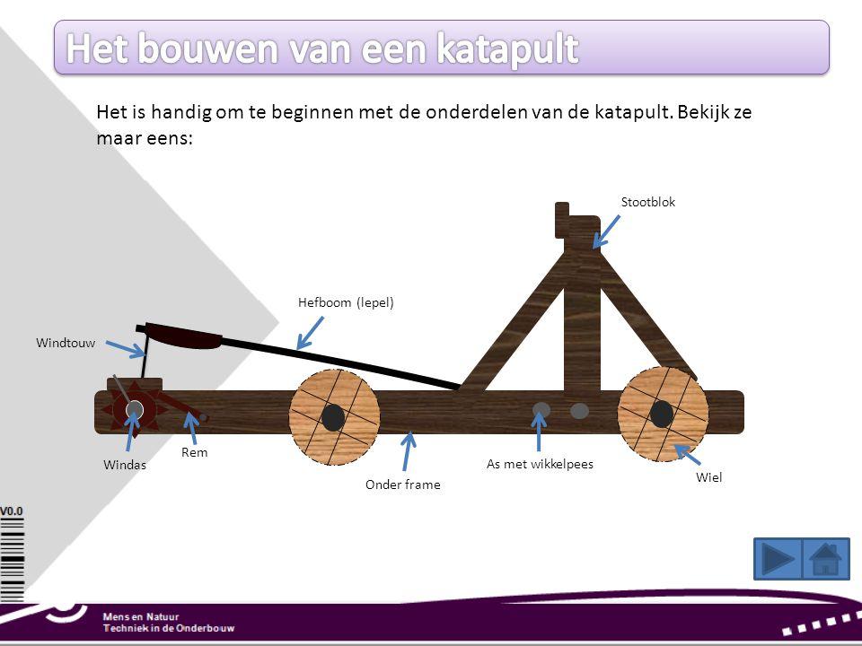 Het bouwen van een katapult