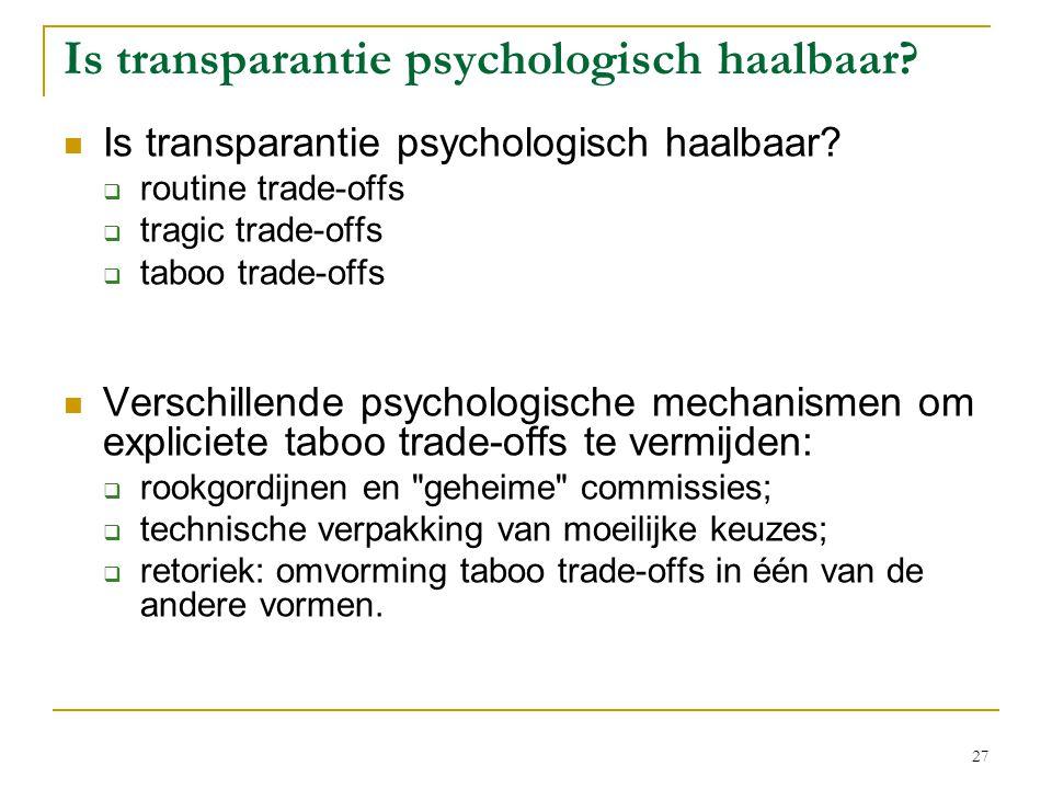 Is transparantie psychologisch haalbaar