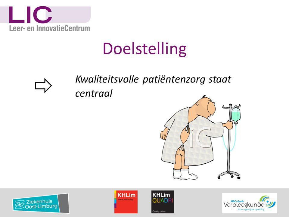 Doelstelling Kwaliteitsvolle patiëntenzorg staat centraal