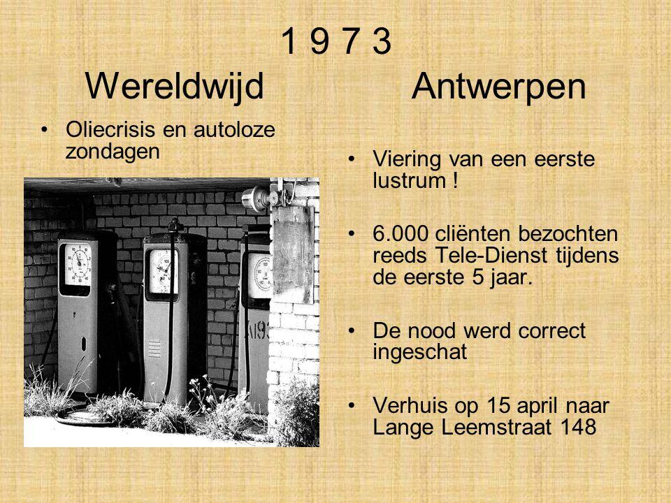 1 9 7 3 Wereldwijd Antwerpen . Oliecrisis en autoloze zondagen