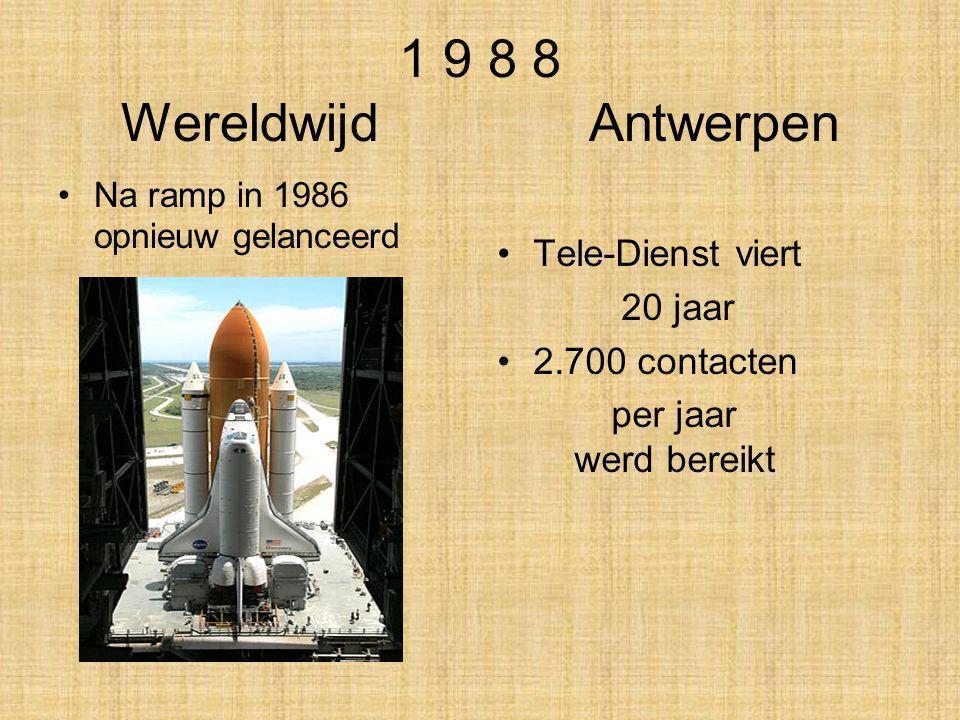 1 9 8 8 Wereldwijd Antwerpen Tele-Dienst viert 20 jaar 2.700 contacten