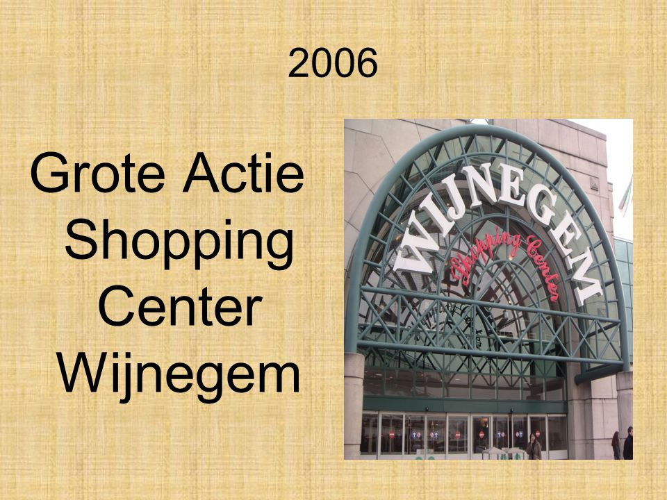 Grote Actie Shopping Center Wijnegem