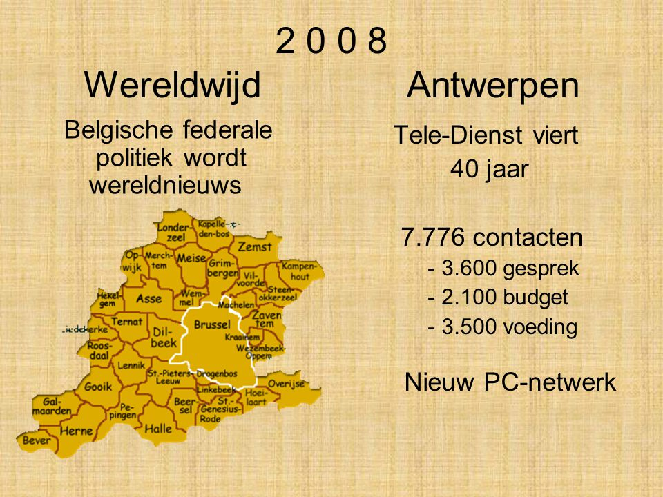 2 0 0 8 Wereldwijd Antwerpen Belgische federale politiek wordt wereldnieuws.