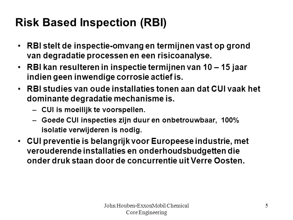 Risk Based Inspection (RBI)