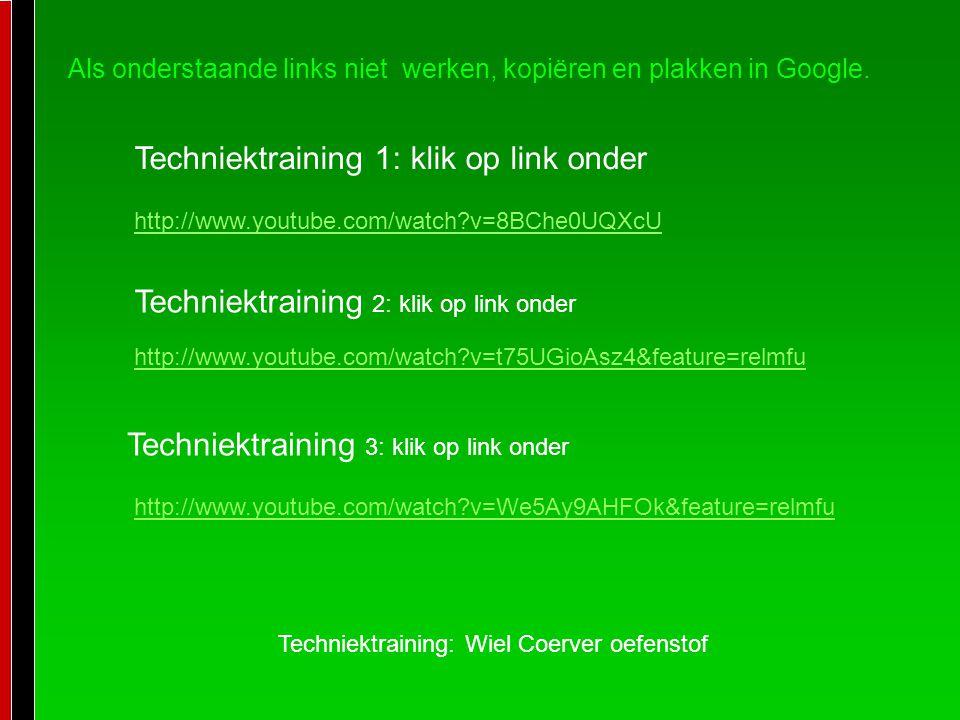Techniektraining 1: klik op link onder